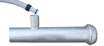 Połączenie instalacji igłofiltrowej IGE-81/63B - kolektor i łącznik elastyczbny do igłofiltra